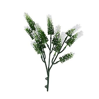 Artificial Small White Lavender Uv Resistant 26 Cm