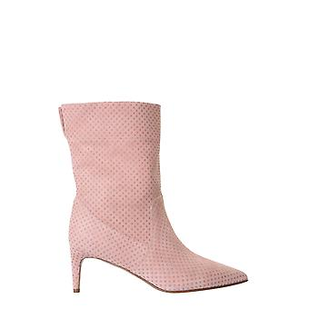 Red Valentino Uq2s0d97afpn17 Women's Pink Leather Ankle Boots