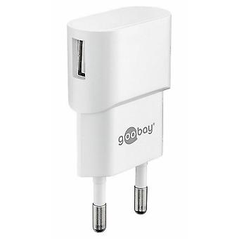 Universal USB Charger Adapter 1A for Smartphone Tablets and much more. White Charge