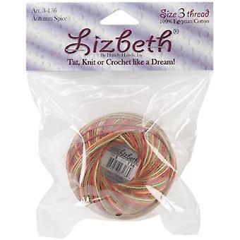 Handy Hands Lizbeth Cordonnet Cotton Size 3-Autumn Spice