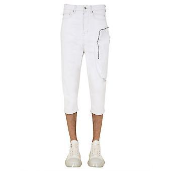 Rick Owens Drkshdw Du20s5353swnd01110 Men's White Cotton Jeans