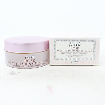 Masque de couchage Fresh Rose Deep Hydration 2x0.5oz/ Nouveau avec boîte