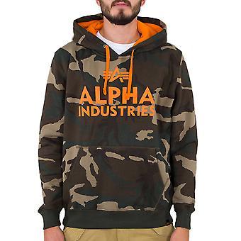 Alpha Industries Męski sweter z kapturem Pianka Print Camo