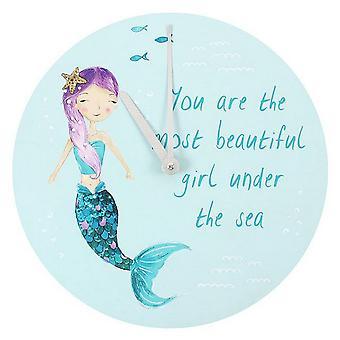 Något annorlunda melodi sjöjungfrun du är den vackraste flickan Under havet väggklockan