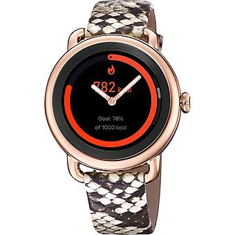 Festina Smartime F50001-2 Rose Gold Tone Case With Printed Leather Strap Smartwatch