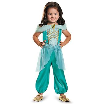 Jasmine Disney Princess Aladdin Alibaba Genie Story kirja viikko tyttöjen puku S