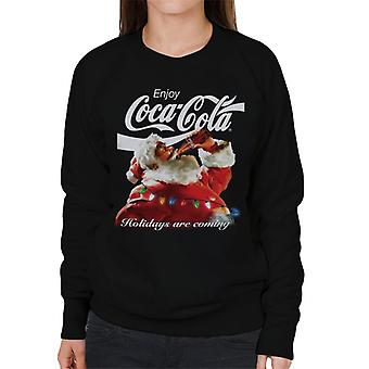 Coca Cola Holidays Are Coming Lights Women's Sweatshirt
