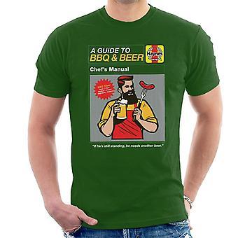 Haynes Guía para barbacoa y cerveza Hombres's Camiseta