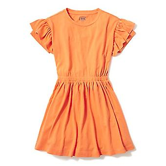 / J. Crew Brand- LOOK by Crewcuts Girl's Ruffle Sleeve Dress, Orange, S...