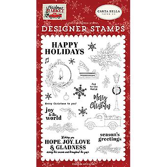 Carta Bella Happy Holidays Clear Timbres