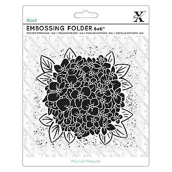 Xcut 6x6 Inch Embossing Folder Full Bloom Hydrangea