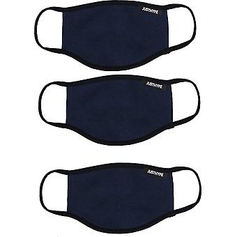 Hype Face Mask 3 Pack Adult Navy 22