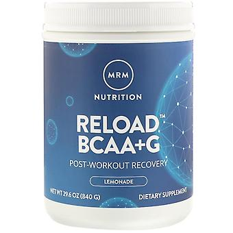 MRM, Reload BCAA+G , Post-Workout Recovery, Lemonade, 29.6 oz (840 g)