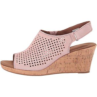 Rockport Womens Briah Perf Sling Peep Toe Casual Slingback Sandals