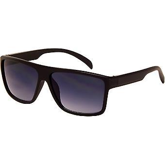 Okulary przeciwsłoneczne Unisex matowa czerń z wędzonym szkłem (AZ-164)