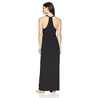 Brand - Coastal Blue Women's Swimwear T-Back Maxi Beach Dress, Black, ...
