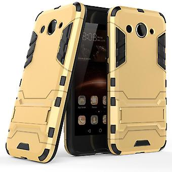 Shell für Huawei Y3 (2017) Space Armor Gold Hard Protection Case Kickstand