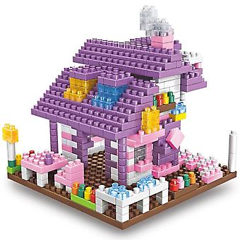 Mini Building Blocks - No Logoinger, Fairy Carriage Purple Villa