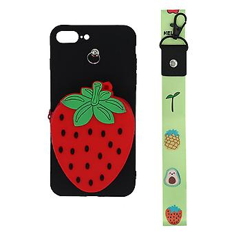 3D Mobile Case mit Münzfach, für iPhone 7 plus/8 plus- Schwarz/Rot