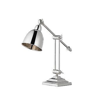 Endon Raskin - Plaque de nickel poli lampe de table, E14
