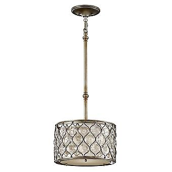 1 Licht plafond cilindrische hanger gepolijst zilver, E27