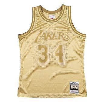 Mitchell & Ness Nba Midas Swingman Jersey Lakers 96 Shaquille Oneal SMJYBW19079LALMTGD96SON koripallo koko vuoden miesten t-paita