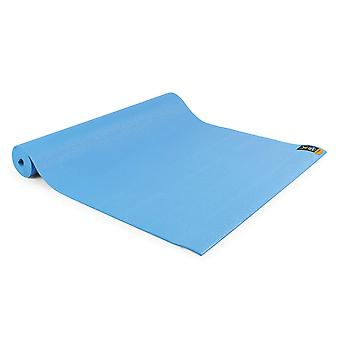 fitness mad warrior yoga ii mat 4mm light blue for yoga and pilates