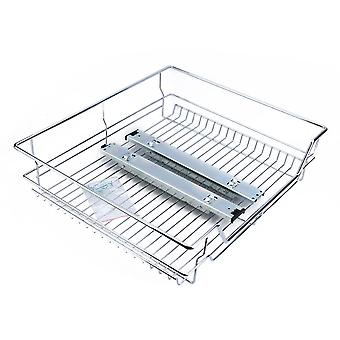 Under Shelf Storage Pull Out Sliding Basket- Drawer Storage Cabinet 600mm