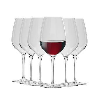 Bormioli Rocco Inalto Tre Sensi Large Wine Glasses Set - 550ml - Pack of 6