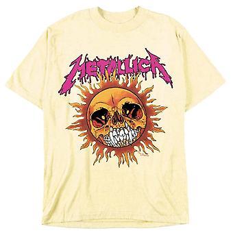 Metallica Fire Sun Pale Yellow T-shirt