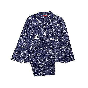 Minijammies Stella 5668 Girl's Navy Mix Celestial Print Pyjama Set