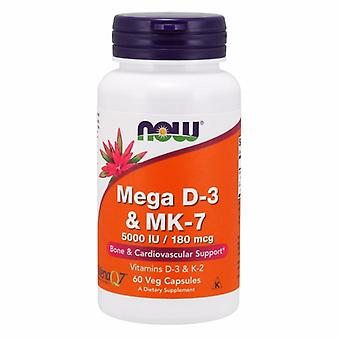 Now Foods Mega D-3 & Mk-7, 60 Veg Caps