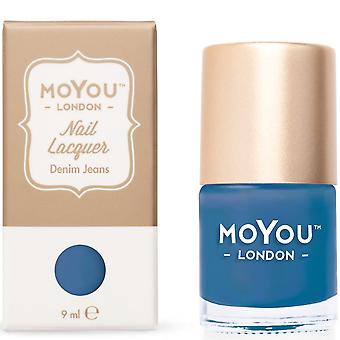 MoYou London Stamping Nail Laque - Denim Jeans 9ml (mn034)
