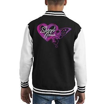 The Super Dimension Fortress Macross Sheryl Heart Hot Kid's Varsity Jacket