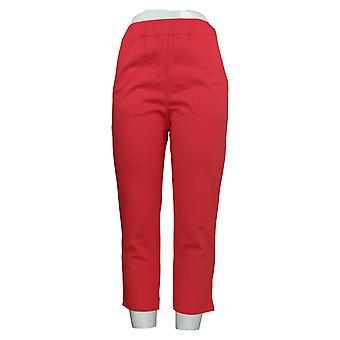 Bob Mackie Women's Pants Pull-On Cropped Red A349667