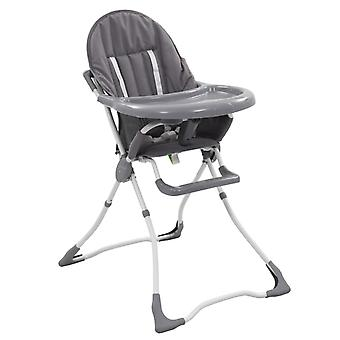 Baby High Chair Grey and White