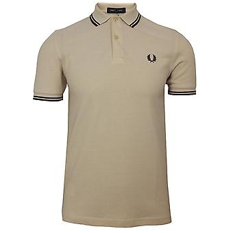 Fred perry twin tipped men's vanilla polo shirt