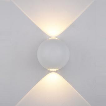 Italux Carsoli - Lámpara de pared al aire libre LED moderno blanco, blanco cálido 3000K 140lm, IP44