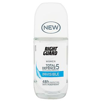 Right Guard 3 X Right Guard Total Defence 5 Invisible Roll On For Women