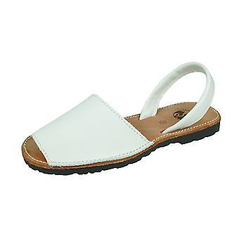 Cool Girls Sofia Maria Girls Leather Slide on Sandals - White
