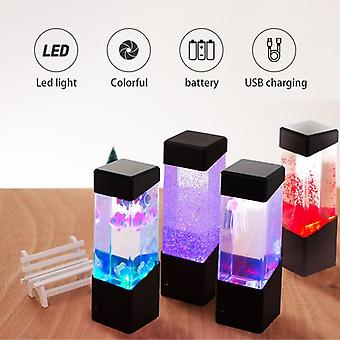 Drop Colorful Jellyfish Tank Akwarium Styl Led Lampa Luminaria Lampa Lava Lampa