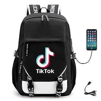 Tiktok ryggsäck USB-laddning School Ryggsäck