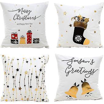 أربع قضايا وسادة مربعة ذهبية لعيد الميلاد