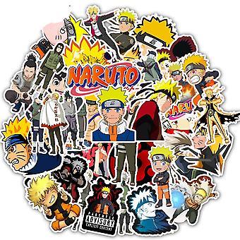 30/10/50pcs Desenho animado Anime Naruto Waterproof Kids Stickers Skateboard, Mala,