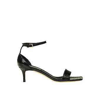 Ninalilou Ezgl449006 Women's Black Leather Sandals