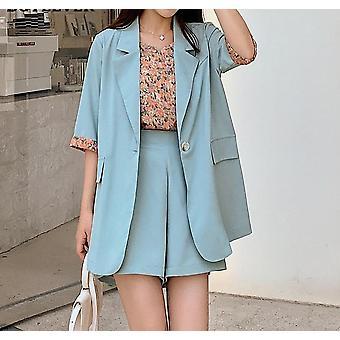 Short Sleeve Blazer/loose Shorts Shirts
