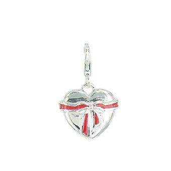 s.Oliver vedhæng af charms SOCHA/72 - 371230 hjerte med rød sløjfe