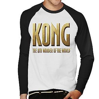 King Kong La 8a Maravilla del Mundo Logo Hombres's Baseball camiseta de manga larga