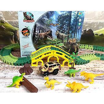 Závodní dráha, Road Military - Diecast Flexibilní dinosauří vzdělávací hračka