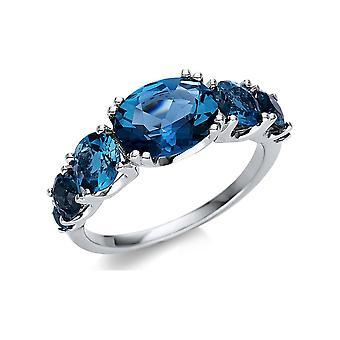 Luna Creación Promessa Anillo Color Piedra 1U274W854-1 - Ancho del anillo: 54